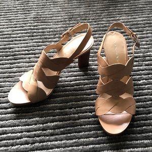 Via Spiga cream/nude sandals